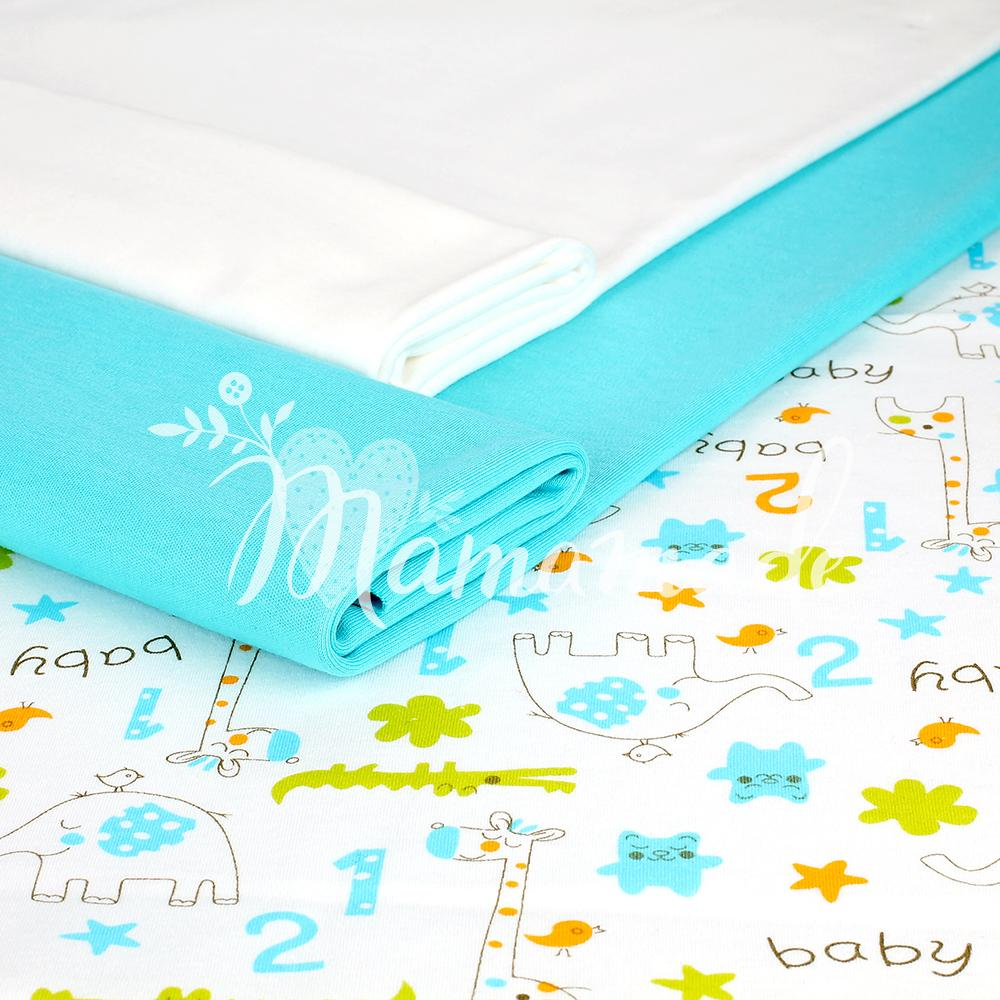 Интерлок Baby Animals Blue